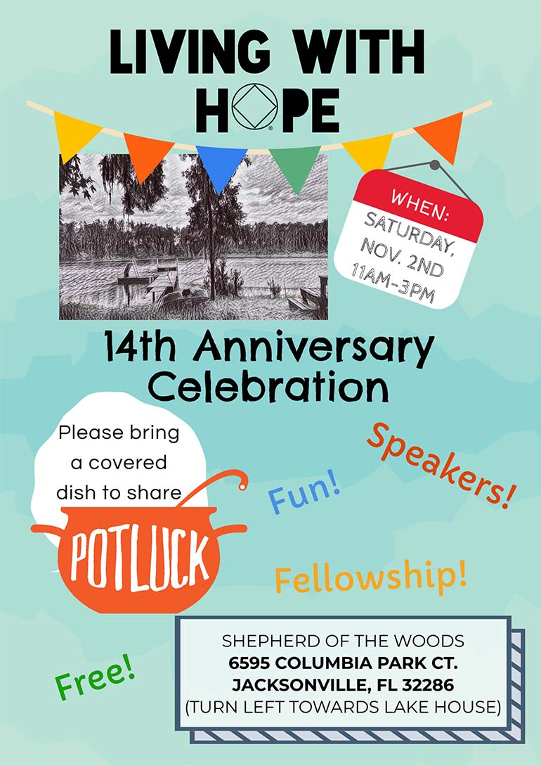 Living with Hope - 14th Anniversary Potluck @ Shepards of the Woods | Jacksonville | Florida | United States