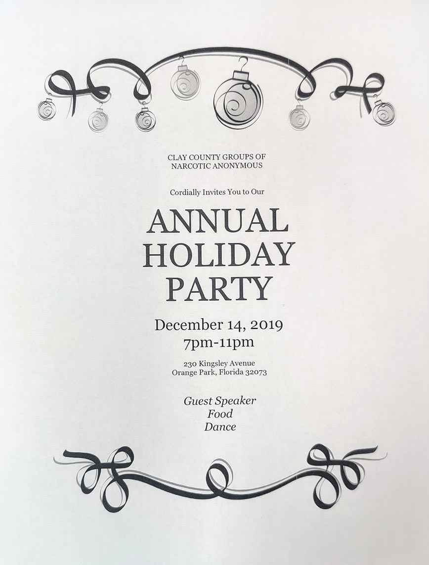 Clay County Groups of NA - Annual Holiday Party @ Orange Park | Florida | United States